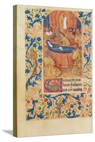 Ms Latin 13305 Fol.88V the Death of the Virgin, from 'Heures a L'Usage De Rome', C.1465-Jean Fouquet-Stretched Canvas Print