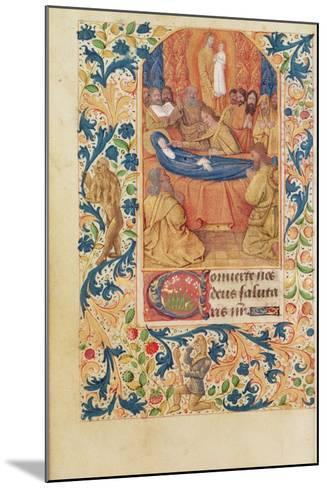 Ms Latin 13305 Fol.88V the Death of the Virgin, from 'Heures a L'Usage De Rome', C.1465-Jean Fouquet-Mounted Giclee Print