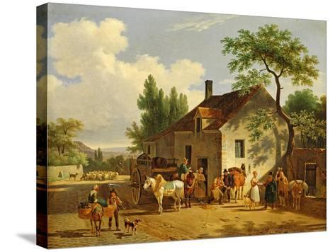 View of a Village, 1839-Jean Francois Demay-Stretched Canvas Print