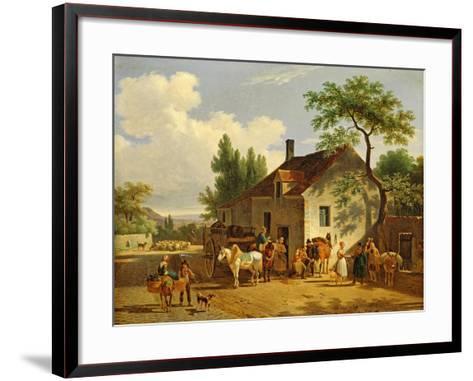 View of a Village, 1839-Jean Francois Demay-Framed Art Print