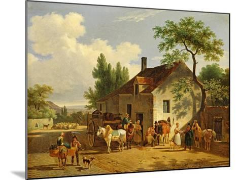 View of a Village, 1839-Jean Francois Demay-Mounted Giclee Print