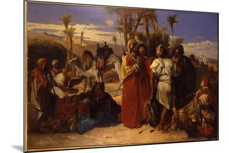 At the Oasis-Jean Francois Portaels-Mounted Giclee Print