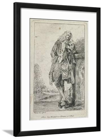 Figures De Mode: Homme Debout Acconde-Jean Antoine Watteau-Framed Art Print
