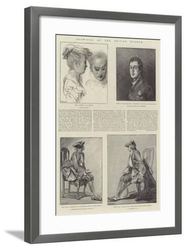 Drawings at the British Museum-Jean Antoine Watteau-Framed Art Print