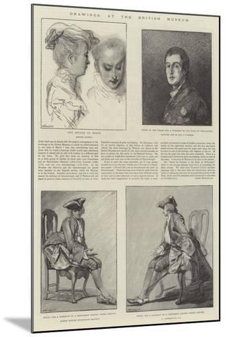Drawings at the British Museum-Jean Antoine Watteau-Mounted Giclee Print