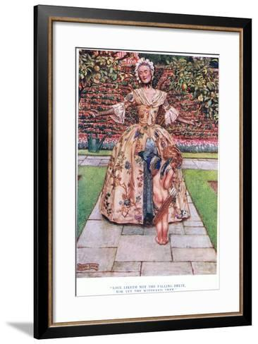 Love Liketh Not the Falling Fruit, Nor Yet the Withered Tree, 1928-John Byam Liston Shaw-Framed Art Print