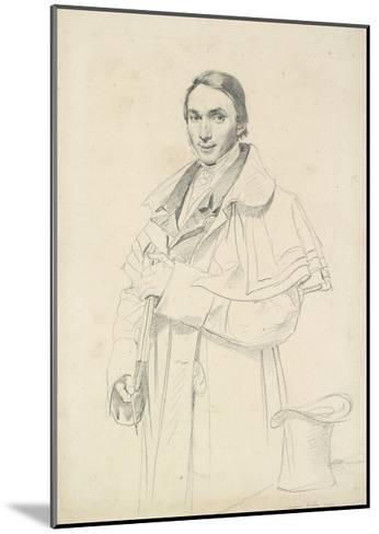 Three-Quarter-Length Portrait of Jean-Francois-Antoine Forest (Graphite on White Wove Paper)-Jean Auguste Dominique Ingres-Mounted Giclee Print
