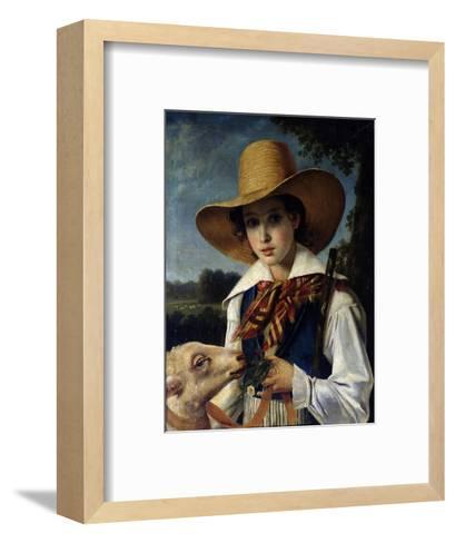 Portrait of Young Marius Peptipa, C.1837-Jean Godechart-Framed Art Print
