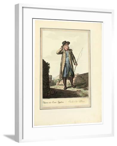 The Coachman; Cocher De Place, 1781 or Later-Johann Christian Brand-Framed Art Print
