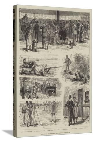 Sketches of the Wimbledon Rifle Meeting-Johann Nepomuk Schonberg-Stretched Canvas Print