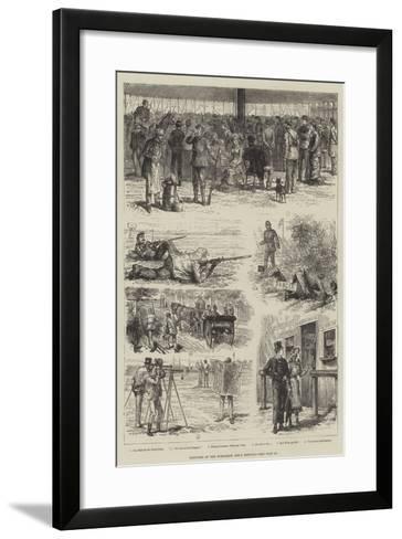 Sketches of the Wimbledon Rifle Meeting-Johann Nepomuk Schonberg-Framed Art Print