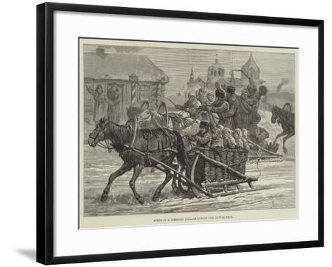 Scene in a Siberian Village During the Butter-Week-Johann Nepomuk Schonberg-Framed Art Print