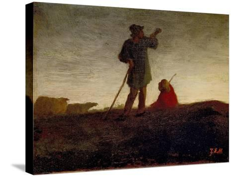 Recalling the Flock, 1866-72-Jean-Francois Millet-Stretched Canvas Print