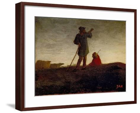 Recalling the Flock, 1866-72-Jean-Francois Millet-Framed Art Print