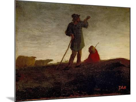 Recalling the Flock, 1866-72-Jean-Francois Millet-Mounted Giclee Print