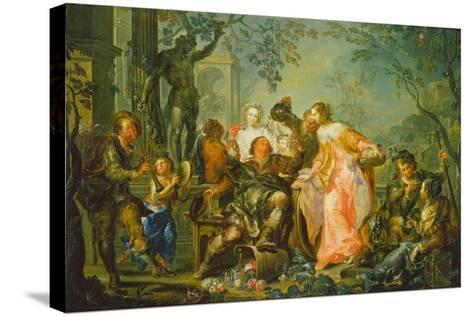 The Pleasures of the Seasons: Autumn, C.1730 (Oil on Copper Mounted with Masonite Backing)-Johann Georg Platzer-Stretched Canvas Print