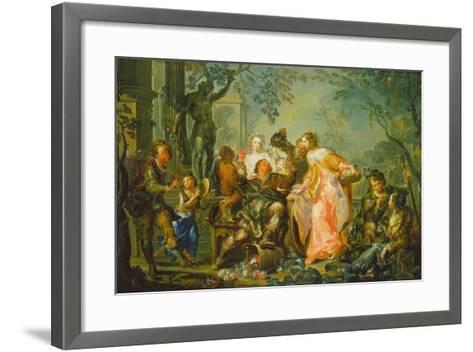 The Pleasures of the Seasons: Autumn, C.1730 (Oil on Copper Mounted with Masonite Backing)-Johann Georg Platzer-Framed Art Print