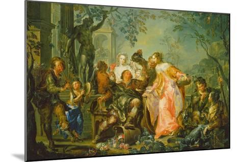 The Pleasures of the Seasons: Autumn, C.1730 (Oil on Copper Mounted with Masonite Backing)-Johann Georg Platzer-Mounted Giclee Print