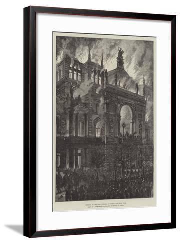 Burning of the Ring Theatre at Vienna-Johann Nepomuk Schonberg-Framed Art Print