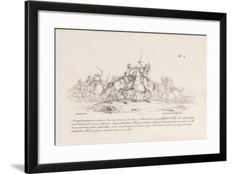 Captain Kelly of the Life Guards Killing a French Commanding Officer of Cuirassiers at Waterloo-John Augustus Atkinson-Framed Art Print