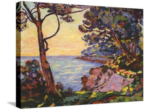 The Coast from L'Esterel, C.1902-Jean Baptiste Armand Guillaumin-Stretched Canvas Print