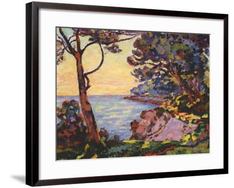 The Coast from L'Esterel, C.1902-Jean Baptiste Armand Guillaumin-Framed Art Print