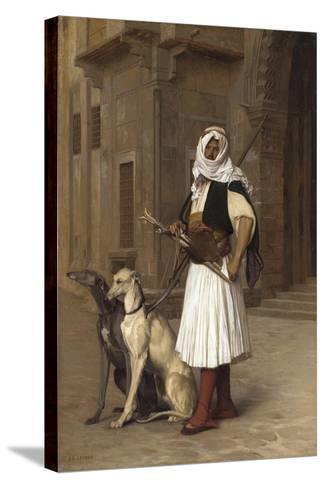 Anaute Avec Deux Chiens Whippets, 1867-Jean Leon Gerome-Stretched Canvas Print