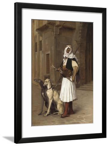 Anaute Avec Deux Chiens Whippets, 1867-Jean Leon Gerome-Framed Art Print