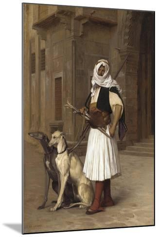 Anaute Avec Deux Chiens Whippets, 1867-Jean Leon Gerome-Mounted Giclee Print