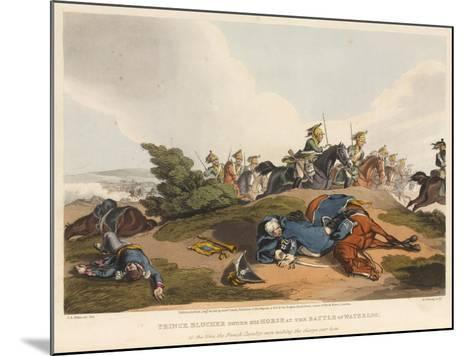Prince Blucher under His Horse at the Battle of Waterloo-John Augustus Atkinson-Mounted Giclee Print
