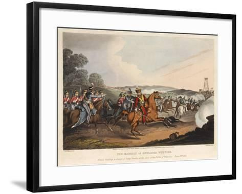 The Marquis of Anglesea [Sic] Wounded-John Augustus Atkinson-Framed Art Print