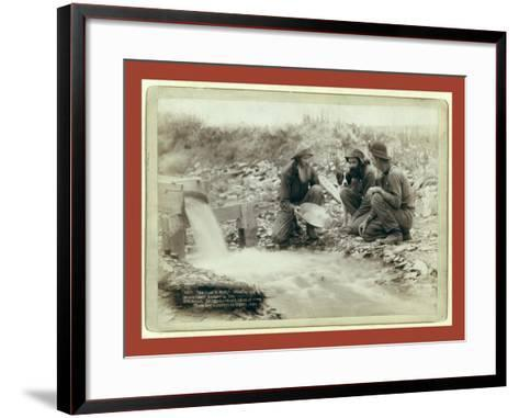 We Have it Rich. Washing and Panning Gold-John C. H. Grabill-Framed Art Print
