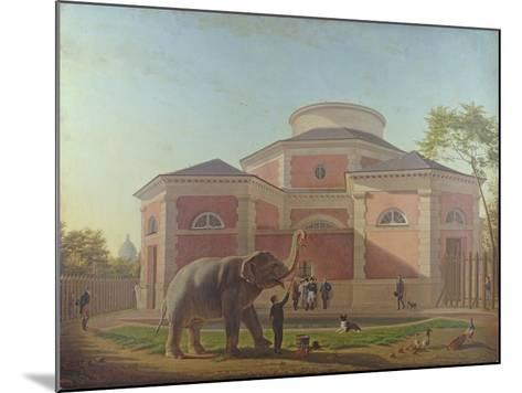 The Duc and Duchesse De Berry Visiting the Elephant at the Jardin Des Plantes in Paris, 1817-Jean Baptiste Berre-Mounted Giclee Print