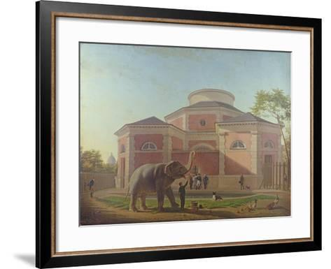 The Duc and Duchesse De Berry Visiting the Elephant at the Jardin Des Plantes in Paris, 1817-Jean Baptiste Berre-Framed Art Print