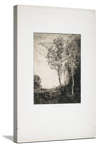 Souvenir D'Italie (A Memory of Italy), 1863-Jean-Baptiste-Camille Corot-Stretched Canvas Print