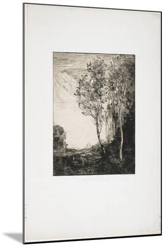 Souvenir D'Italie (A Memory of Italy), 1863-Jean-Baptiste-Camille Corot-Mounted Giclee Print