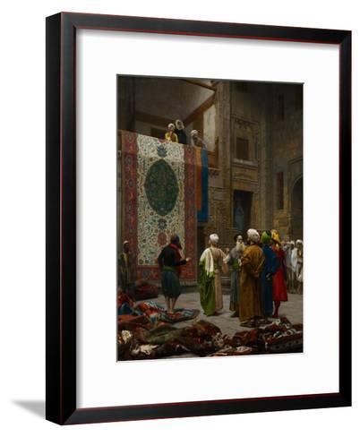The Carpet Merchant, C.1887-Jean Leon Gerome-Framed Art Print