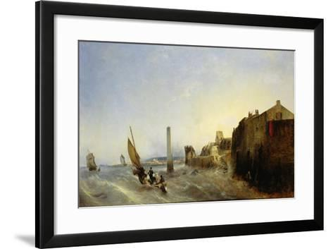 View of Napoleon Quay at Cherbourg, 1838-Jean Louis Petit-Framed Art Print