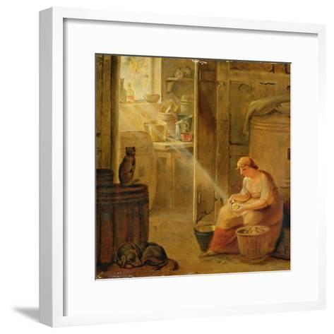 Interior (The Potato)-Johann Heinrich Wilhelm Tischbein-Framed Art Print