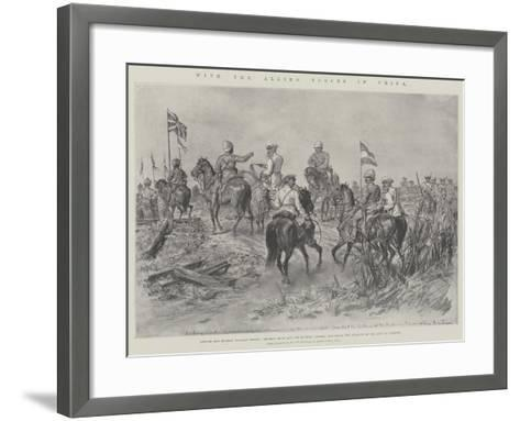 With the Allied Forces in China-Johann Nepomuk Schonberg-Framed Art Print