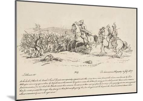 Wellington Directing a Charge of the Guards Against a Column of French at Waterloo-John Augustus Atkinson-Mounted Giclee Print
