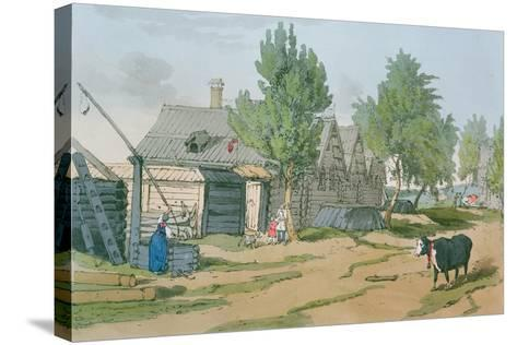 A Russian Village, 1804-John Augustus Atkinson-Stretched Canvas Print