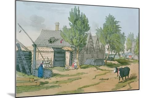 A Russian Village, 1804-John Augustus Atkinson-Mounted Giclee Print