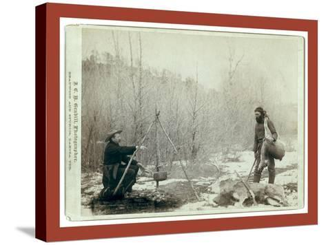 Hunting Deer. a Deer Hunt Near Deadwood in Winter '87 and ' Two Miners Millan and Hubbard Got their-John C. H. Grabill-Stretched Canvas Print