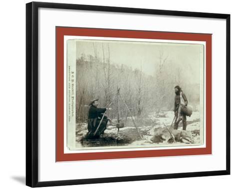 Hunting Deer. a Deer Hunt Near Deadwood in Winter '87 and ' Two Miners Millan and Hubbard Got their-John C. H. Grabill-Framed Art Print