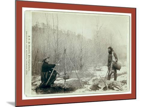 Hunting Deer. a Deer Hunt Near Deadwood in Winter '87 and ' Two Miners Millan and Hubbard Got their-John C. H. Grabill-Mounted Giclee Print