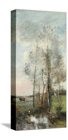 Copse of Alder and Birch, 1865-70-Jean-Baptiste-Camille Corot-Stretched Canvas Print