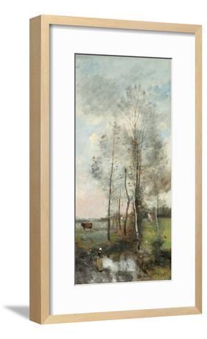 Copse of Alder and Birch, 1865-70-Jean-Baptiste-Camille Corot-Framed Art Print