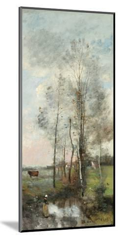 Copse of Alder and Birch, 1865-70-Jean-Baptiste-Camille Corot-Mounted Giclee Print