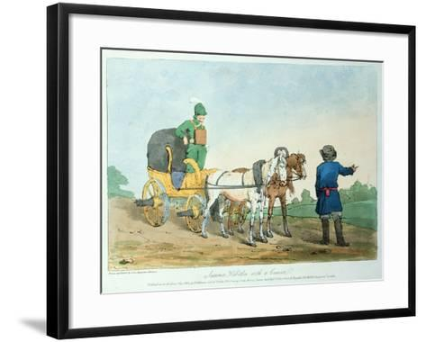 Summer Kibitka with a Courier, 1803-John Augustus Atkinson-Framed Art Print